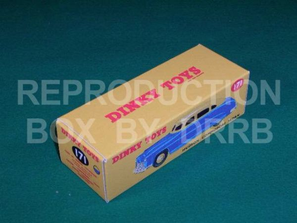 Dinky #171 Hudson Commodore Sedan - Reproduction Box ( Two tone finish, Blue with a Tan Roof )